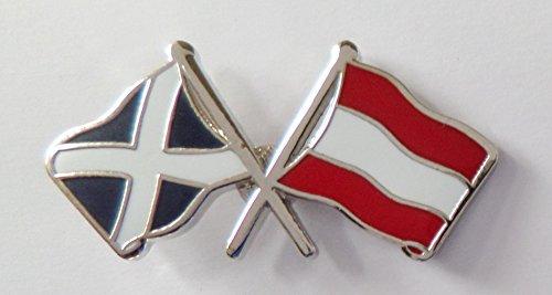 1000 Flags Österreichische Flagge & Schottland-Flagge Freundschaftsanstecker