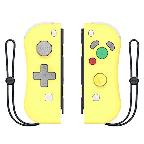 Switch Joy-Con Bluetooth Wireless Gamepad Wireless Somatosensorischer Switch Griff mit NFC Wake Up-Pikachu gelb