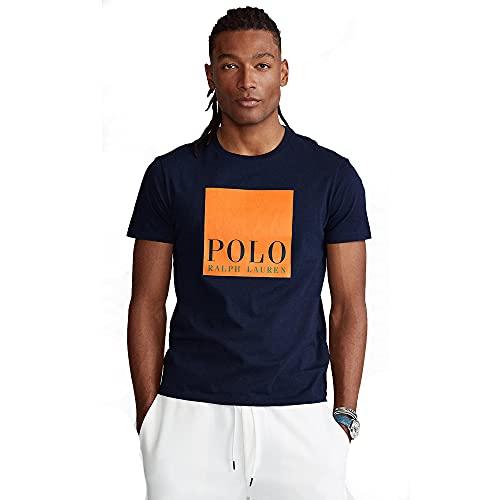 Polo Ralph Lauren T-Shirt da Uomo Custom Slim Fit 565536 (L, Cruise Navy)
