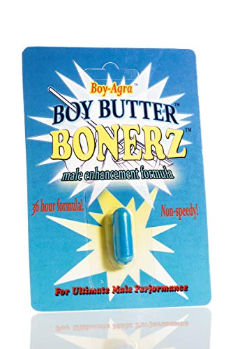 Boy Butter Bonerz - All Natural Male Performance - Boosts Libido, Energy, Stamina - 1 Capsule