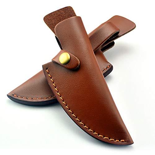 Qchengsan Étui de Protection en Cuir pour Couteaux de Chasse à Lame Fixe Convient pour la Plupart des Couteaux de Chasse et de Camping jusqu'à 11,5 cm