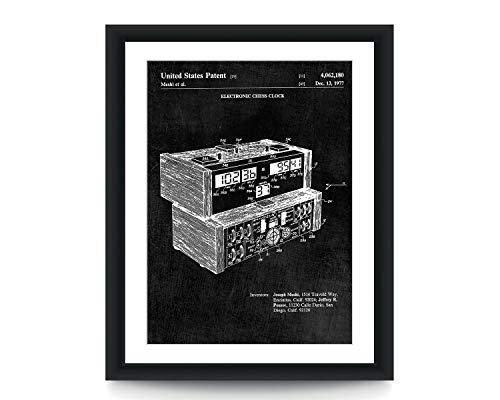 Elektronische Schaak Klok Patent Art Print Schaak Muur Kunst Patent Poster Muurdecoratie Schaakkunst