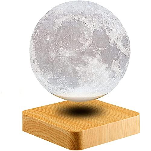 CWW Magnetica Levitando la lámpara de la Luna flotando y girando en el Aire Imprimiendo en 3D la luz de la Luna del LED Vacaciones decoración de la habitación