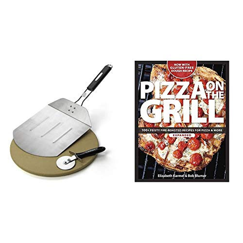 Cuisinart CPS-445, 3-Piece Pizza Grilling Set, Stainless Steel & Pizza on...