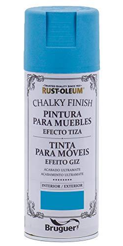 Rust-Oleum Spray Chalky Finish Azul Profundo 400 ML BRUGUER, Negro