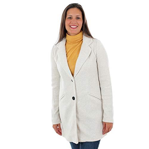 Vero Moda Abrigo Mujer Beige 10222400 VMMARBLELLA 3/4 Jacket Booster Oatmeal Melange