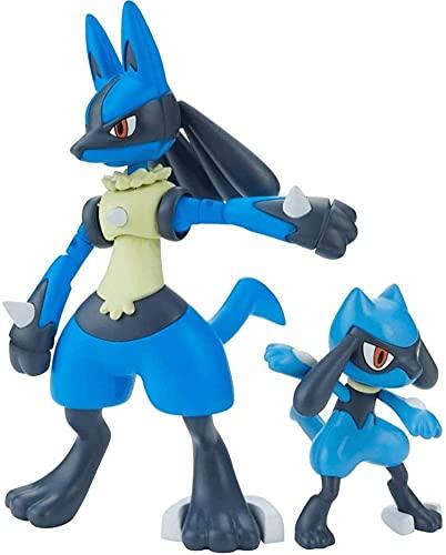 bamzok Pokemon Riolu & Lucario Assembly Modelo Anime Action & Toy Figuras Modelo Juguetes para Niños con Caja
