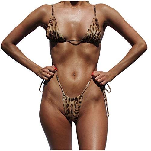 Mujer Bikini Leopardo G String Bikini Mujer 2020 Acolchado
