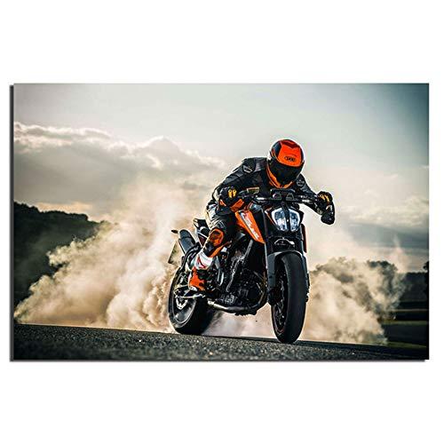 Unbekannt HD Druck Bild Hohe Qualität KTM 790 Duke Super Motorrad Wandkunst Poster Leinwand Tuch Stoff Drucken für Wohnkultur-50x150 cm Kein Rahmen