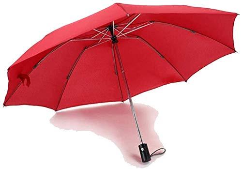 Regenschirm Anti-regenschirm Sonnenschutz Wasserdicht Kompakt Winddicht Tragbar Leichtes Anti-ultraviolett-reise-regenschirm Faltsonne Automatische Markise Rot Regenschirm Sturmsicher Lightweight