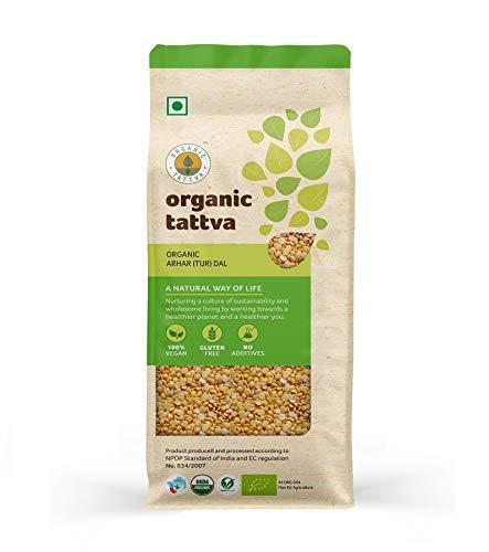 Organic Tattva Arhar (Tur) Dal, 1kg