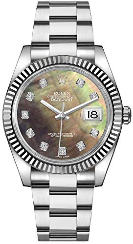 Rolex Datejust 36 Diamond Black Mother of Pearl Dial Women's Watch 116234