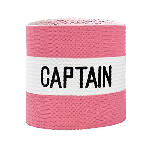 VerteLife Kapitänsband Spielführerbinde für Fußball und Rugby, Gummielastische Armbinde Kapitän Armbinde, Captains Armband für Erwachsene und Kinder - Rosa, Einheitsgröße