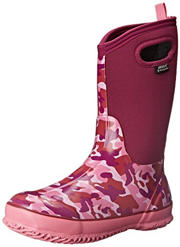 BOGS Classic High Waterproof Insulated Rubber Neoprene Rain Boot, Crazy Daisy Print/Blue/Multi,...