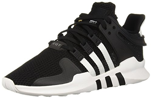 adidas Originals Women's EQT Support ADV Running Shoe, Black/White/Grey, 7 M US