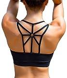 YIANNA Sujetador Deportivo Mujer con Relleno Extraíble Top Sujetadores Deportivos Yoga sin Costuras...