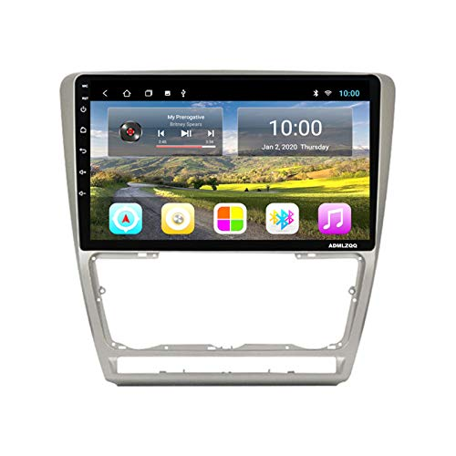 ADMLZQQ 9 Pulgadas Android 10.0 2DIN Unidad Principal Car Stereo Radio para Skoda Octavia 2008-2013, GPS/Bluetooth/DSP/FM/RDS/Cámara Trasera / 4G + WiFi,7862 (8core 6+128g)