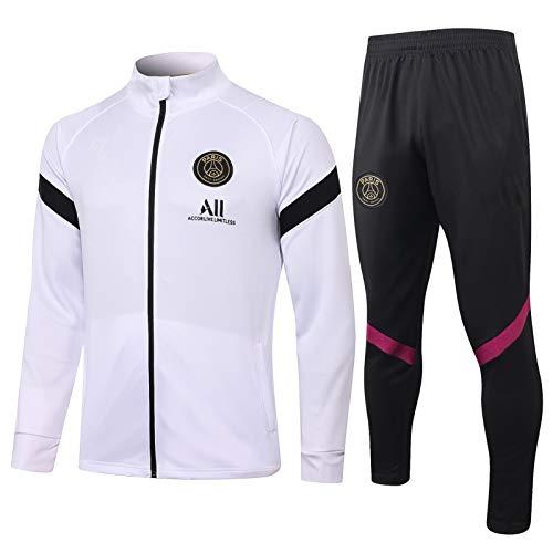 QJY Camisa de fútbol Equipo Competencia Traje Paris Chaqueta de Manga Larga + Pantalones Traje de Entrenamiento Traje Deportivo Juego (Size : M)