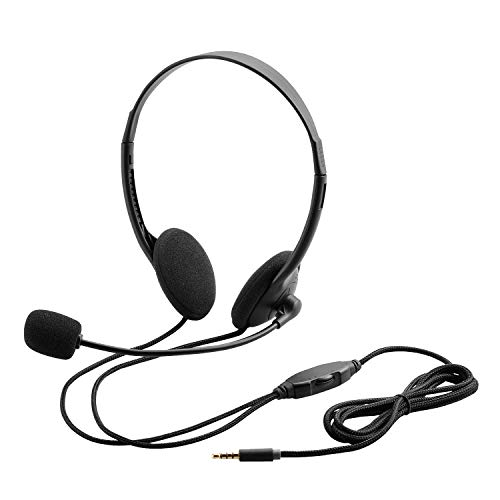 エレコム ヘッドセット マイク 4極 両耳 オーバーヘッド 1.8m HS-HP22TBK