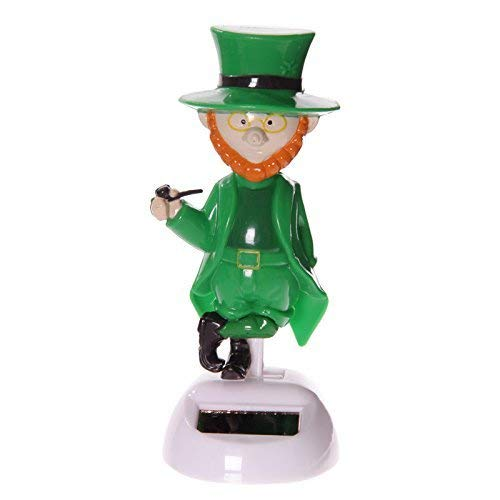 Puckator Ff52 solar Elf Figurine Green/orange/white Plastic, 6 x