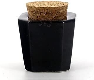 Porcelain Material Nail Art Acrylic Dappen Dish Liquid Powder Container Case Bottle Holder Black Pack of 1, HJ-NAPB004-Black