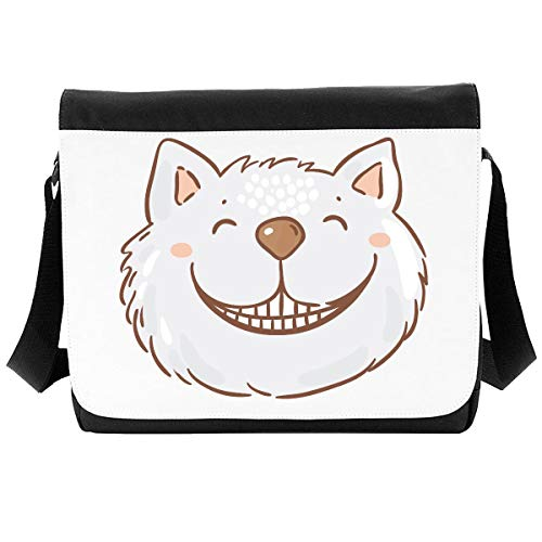 Alice Illustrations and Original Quotes (Style 24 Cheshire cat grin) Shoulder Bag - Large