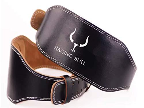 Raging Bull Cinturon Lumbar Gimnasio Hombre y Mujer, para Peso Musculacion, Halterofilia, Levantamiento de Pesas. Cinturon lastre dominadas Powerlifting Belt cinturón Ruso Fitness (S)