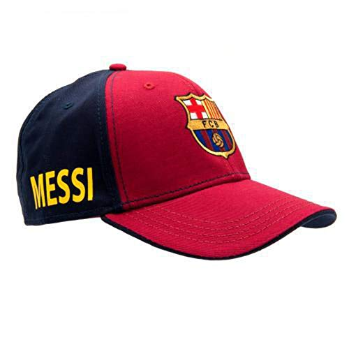 FC Barcelona Messi Cap - Great Hat with Barcelona Team Colors and Crest - Features Messi On Side - Velcro Back - One Size Fits Most - Official FC Barcelona Product - Messi!
