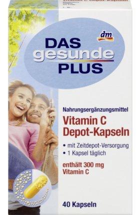 DAS gesunde PLUS Vitamin C Depot-Kapseln, 40 St Nahrungsergänzungsmittel