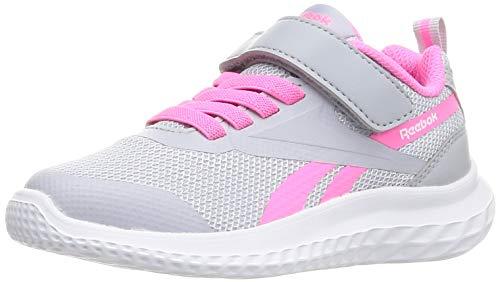 Reebok Rush Runner 3.0 Alt Road Running Shoe, Cold Grey/Electro Pink/White, 31 EU