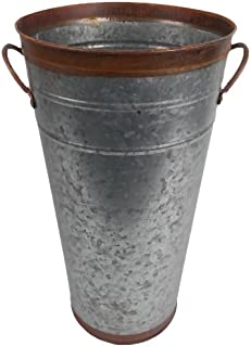 Craft Outlet Two Tone Flower Bucket, 15-Inch