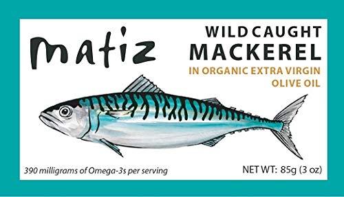Matiz Mackerel in Extra Virgin Olive Oil, 3 Ounce Can, Spanish Natural Artisan Wild Caught Fish (5 Pack)