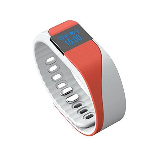 MIAO Sport-Armband - Smart M2 Silikon Zwei Farben Heartbeat Monitor Armband Outdoor-Sport-Schrittzähler, red