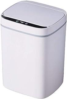 YHXJ ゴミ箱,自動開閉 ゴミ箱, ふた付きゴミ箱,防水, 専用キッチン, 厨房, 卧室, 充電気性计, 免入频繁更换電気池, 大開口口設定计, 方便倾倒垃圾, タオル筒式装袋, 垃圾袋固定不易滑落 13L