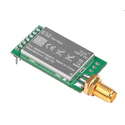 MakerHawk RF Wireless Übertragungsmodul 868 MHz LoRa Spread-Spektrum-Kommunikation, 20dBm 100mW Gemessener Abstand 3000M UART SX1278 / SX1276 RF Empfänger Sender, Super Anti-Interferenz-Leistung