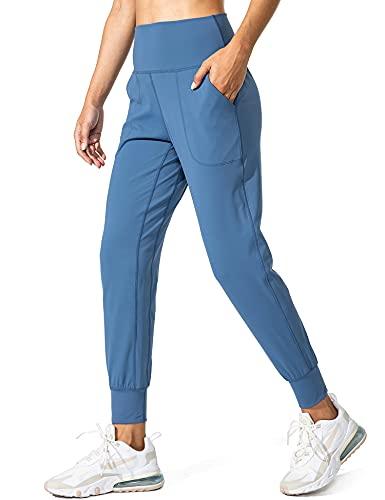 StaySlim Buttery - Pantalones deportivos suaves para mujer, cintura alta, ligeros, para yoga, salón, pantalones con bolsillos, #J Azul, XL