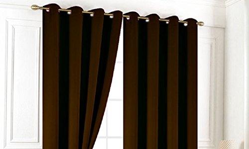 Rideaux Occultant Uni 140 x 240 Cristal- Chocolat