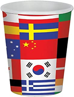 Beistle International Flag Cup 8cups,9 oz.
