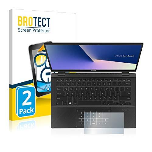 brotect Pellicola Protettiva Compatibile con ASUS Zenbook Flip 14 UX463FA (Touch Trackpad) Pellicola Trasparente (2 Pezzi) Anti-Impronte