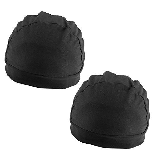 Gazechimp 2pcs Bonnet Epais de Perruque en Spandex Wig Cap Dome Perruque Capuchon pour Extension Cheveux Filet Elastique pour Nager / Natation / Sports Nautique pour Hommes et Femmes