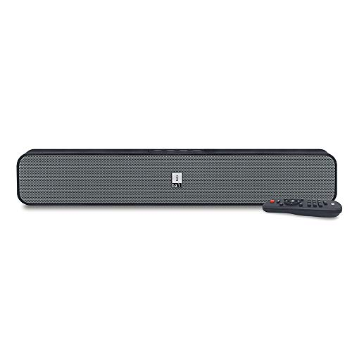 iBall Musi Bar High Power Compact Soundbar with Multiple Playback Options, Black-Grey