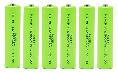 6 Stück AA wiederaufladbare Batterie 1,2V Nimh 1500mAh Button Top Batterie