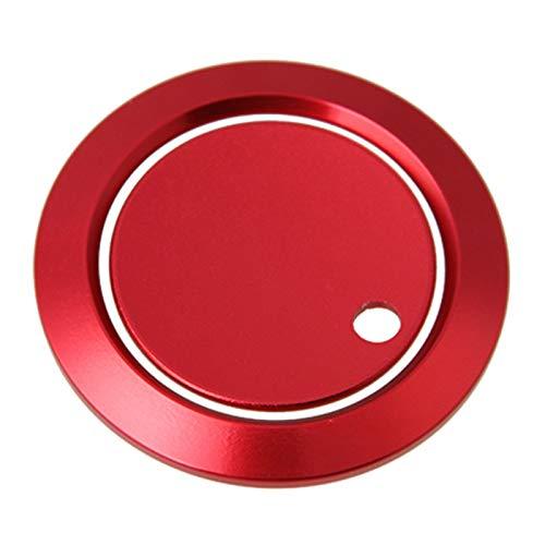 Arranque con un solo botón, cubierta del botón de parada de arranque del motor del automóvil Piezas únicas Metal rojo portátil para automóvil + Adornos adhesivos de anillo, para Ford F150 Mondeo