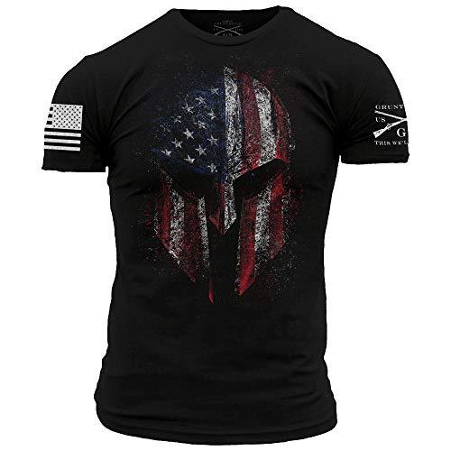 Grunt Style American Spartan 2.0 - Men's T-Shirt (Black, Medium)