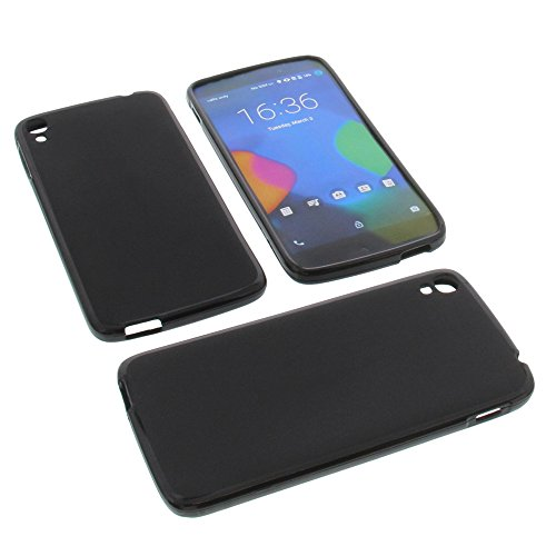 foto-kontor Tasche für Alcatel One Touch Idol 3 5.5 Gummi TPU Schutz Hülle Handytasche schwarz