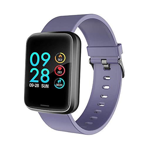 Mygsn Watch Fitness-Tracker-Uhr, wasserdichter Aktivitäts-Tracker - Mit Herzfrequenz-Blutdruckmessgerät - Wearable Smart-Armband-Pedometer-Uhr Damenkinder für Kinder Watch (Farbe : Lila)