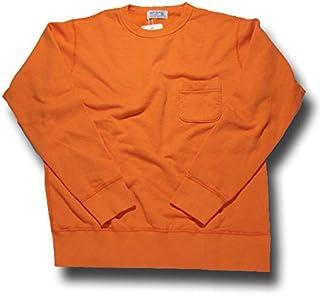 (ベルバシーン) Velva Sheen 10oz SET-IN SWEAT w/PK セットインスウェット スエット トレーナー 161840 オレンジ