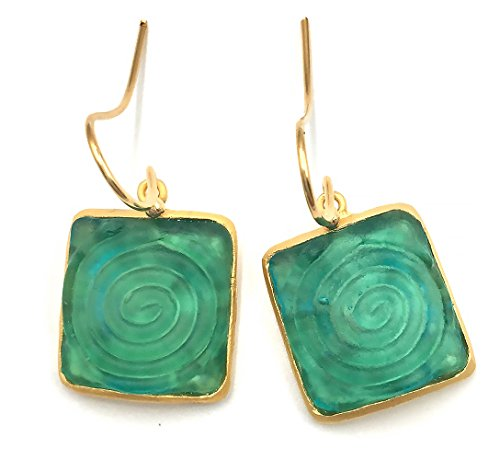 Michael Vincent Michaud Glass Wire Earrings #1116B