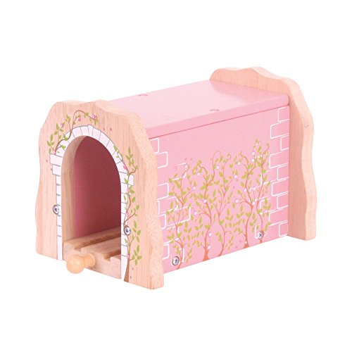 Bigjigs Rail Pink Brick Tunnel - Other Major Wooden Rail Brands are Compatible