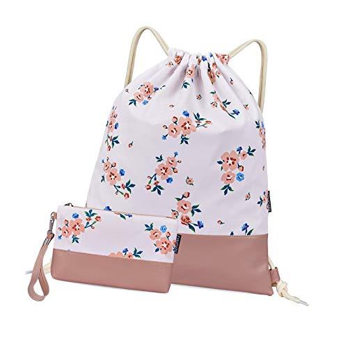 YCYUYK Bolsas con cordón para mujer Casual Gym Sack con bolsas Bolsa de viaje Billetera Agua